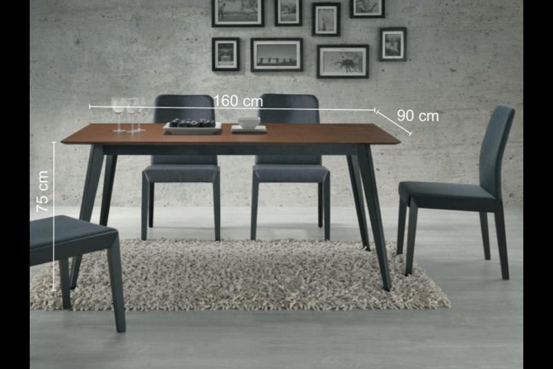 Set Brando negru-nuc + 6 scaune