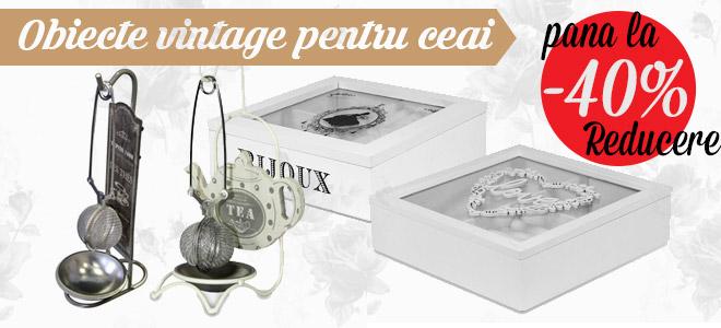 Obiecte vintage pentru ceai