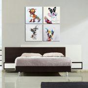 Tablou pictat manual Dog House