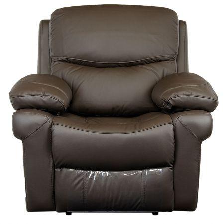 Fotoliu Kring Royal, cu recliner si 3 trepte de confort, piele naturala
