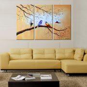 Tablou pictat manual Colorful Avian