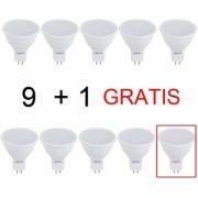 Set 9+1 Gratis Spoturi Led 12V lumina rece LF 6062
