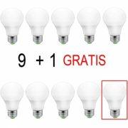 Set Becuri 9+1 Gratis LED 10W Lumina rece LF 6100