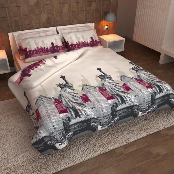 Lenjerie de pat Percale Luxury 2 persoane New York - Bumbac 100%