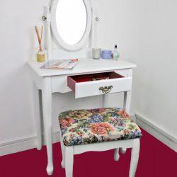 SEA121 - Set Masa alba toaleta cosmetica machiaj oglinda masuta