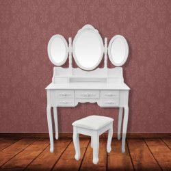SEA207 - Set Masa alba toaleta cosmetica machiaj oglinda masuta vanity