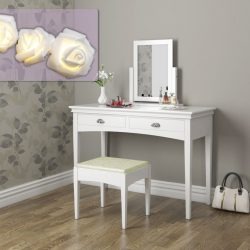 SEA313 - Set Masa alba toaleta cosmetica machiaj oglinda masuta vanity