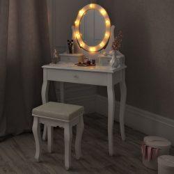 SEA314 - Set Masa alba toaleta cosmetica machiaj oglinda masuta vanity