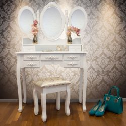 SEA316 - Set Masa alba toaleta cosmetica machiaj oglinda masuta vanity