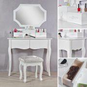 SEA47 - Set Masa alba toaleta cosmetica machiaj oglinda masuta vanity