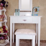 SEA49 - Set Masa alba toaleta cosmetica machiaj oglinda masuta vanity