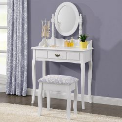 SEA66 - Set Masa alba toaleta cosmetica machiaj oglinda masuta vanity
