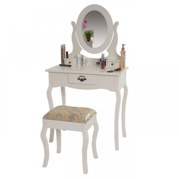 SEC8 - Set Masa Crem toaleta cosmetica machiaj oglinda scaun