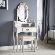 SEG101 - Set Masa Argintie toaleta cosmetica machiaj oglinda masuta