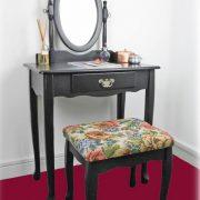 SEN103 - Set Masa neagra toaleta cosmetica machiaj oglinda masuta