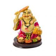 Buddha razand cu sacul abundentei in mana