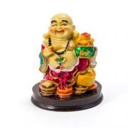 Buddha razand cu vasul abundentei in mana