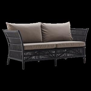 Canapea din rattan Donatello Black