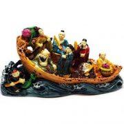 Cei opt nemuritori in barca colorati