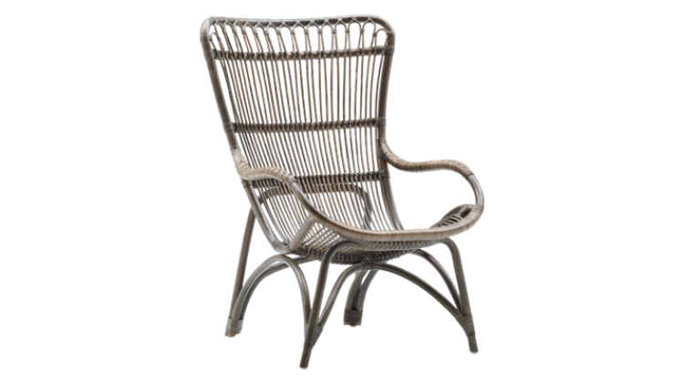 Fotoliu din rattan Monet Grey Antique
