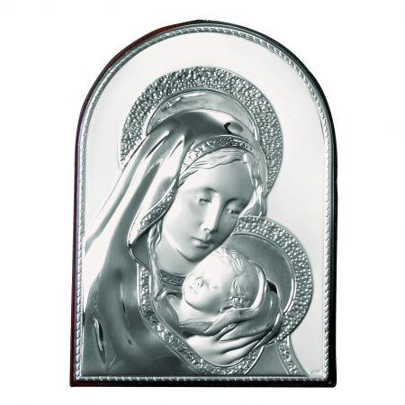 Icoana pe Foita de Argint Maica Domnului - Dulcea Sarutare