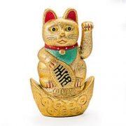 Pisica norocoasa aurie cu labuta miscatoare