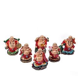 Set 6 Buddha Razand Multicolori