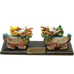 Testoase dragon colorate cu Wu Lou si Pepite