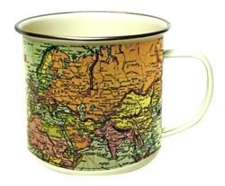 Antique Map Enamel Mug |