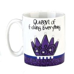 Cana ceramica in cutie cadou - Queen Of Focking Everything | Boxer