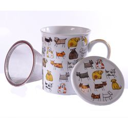 Cana cu infuzor si capac in cutie cadou - Herb Mug Dodo & Bodo | Dethlefsen&Balk