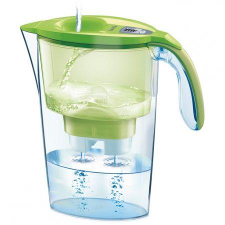 Cana de filtrare apa Laica, Verde + 3 filtre + Ceas cu apa