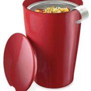 Cana de voiaj cu infuzor - Cranberry Red | Tea Forte