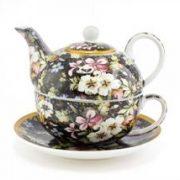 Ceainic cu cana si farfurie - Killburn Blossom - Tea for One | Lesser & Pavey