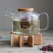 Ceainic cu infuzor si suport | Kikkerland