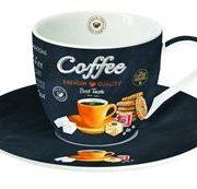 Ceasca cu farfurie - Coffee Orange | Easy Life