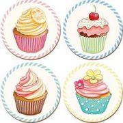 Creative Tops Retro Treats Cupcakes Round Placemats | Creative Tops