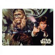 Placuta metalica - Star Wars - Han Solo and Chewbacca | Half Moon Bay
