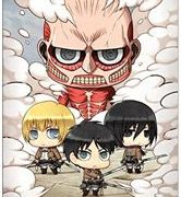 Poster - Attack on Titan Chibi Group | GB Eye