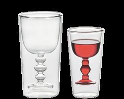 Set 2 pahare cu perete dublu Water and Wine | Bitossi