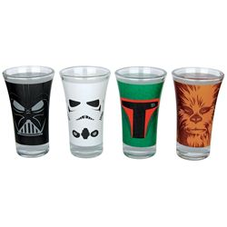 Set 4 pahare pentru shot - Star Wars Characters, 50 ml | Half Moon Bay
