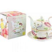 Set ceainic cu ceasca - Flower Garden Tea For One | Lesser & Pavey