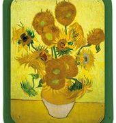Tava de metal - Vincent Van Gogh - Tournesol dans un vase   Cartexpo