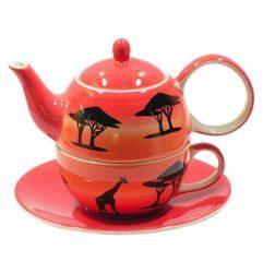 Tea for One cu farfurie - Africa | Dethelefsen&Balk