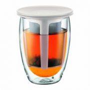 Tea for one - ceainic cu infuzor Bodum Pavina alb | Bodum