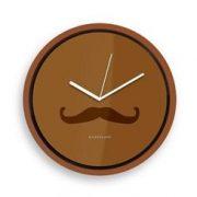 Wall Clock + Mustache | Kikkerland
