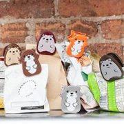 Woodland Bag Clips Set Of 6 | kikkerland