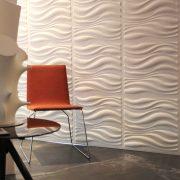 Panouri decorative 3D Waves, WallArt, 12 placi 50x50cm