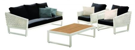 Set mobilier exterior, Cali, canapea, doua fotolii si masa