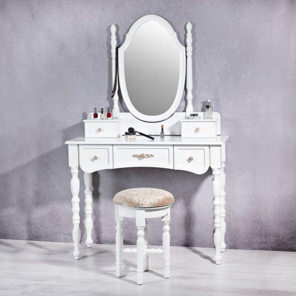 Set Masa Alba toaleta cosmetica machiaj oglinda masuta